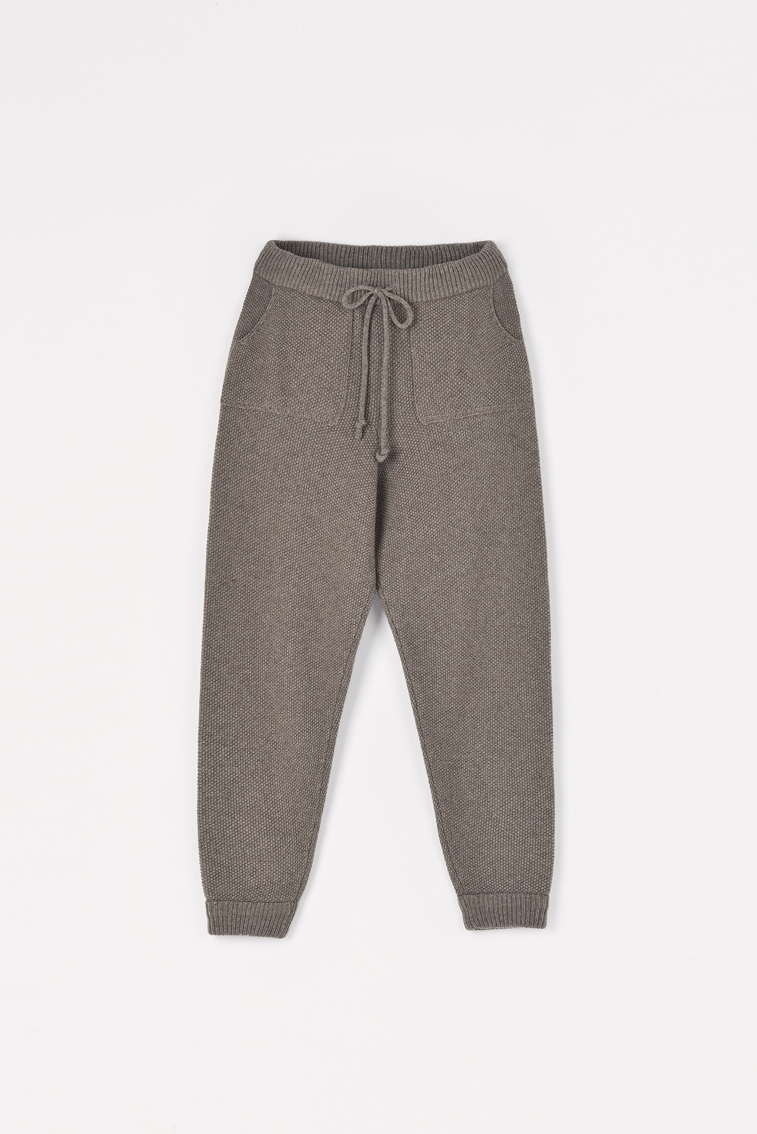 Cashmere knitting pants (Taupe)