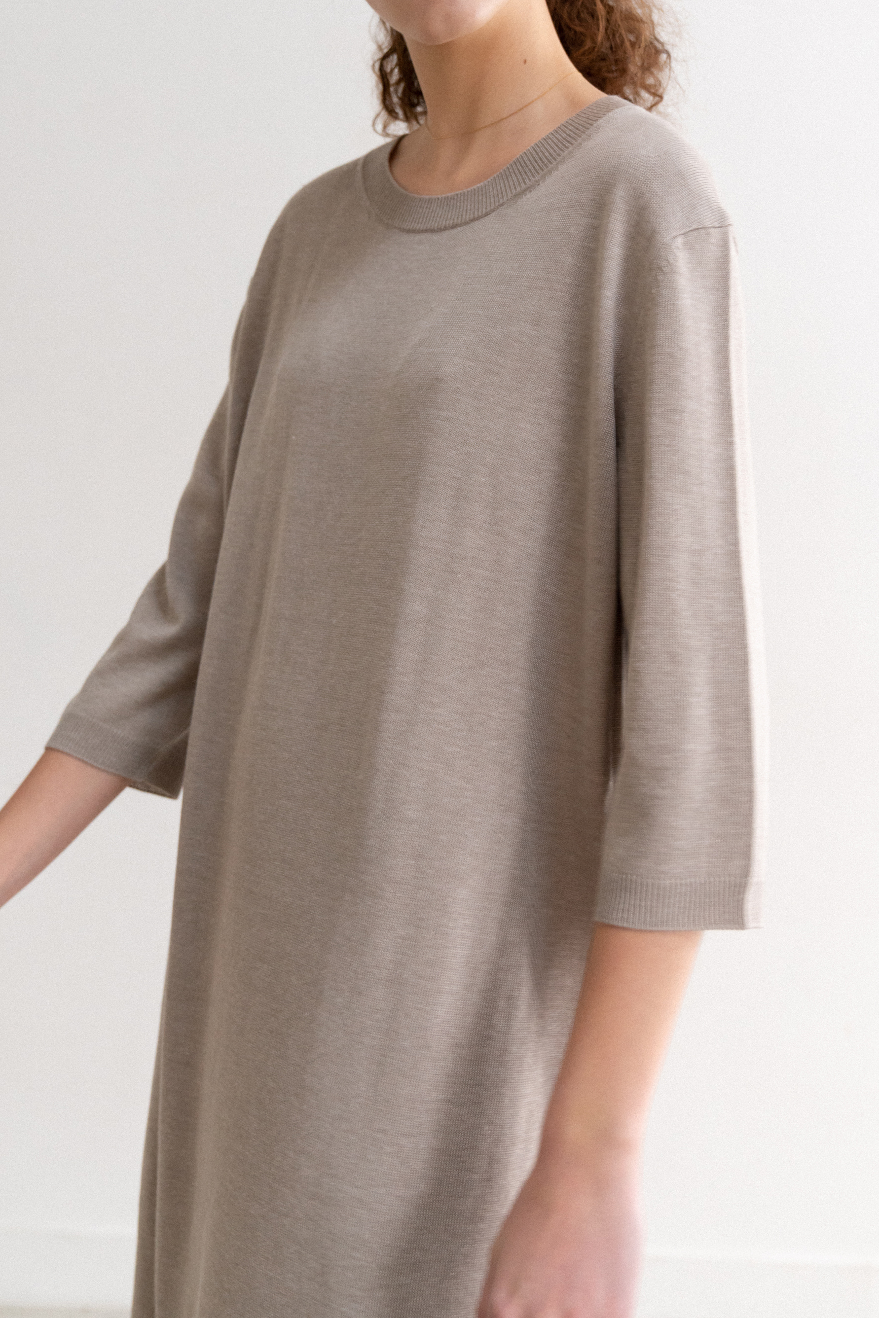 Rami Dress (Oatmeal Grey)