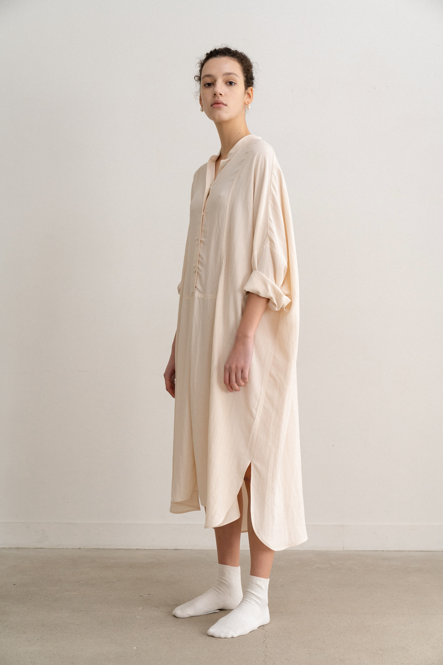 Long Cotton Dress (Ivory)