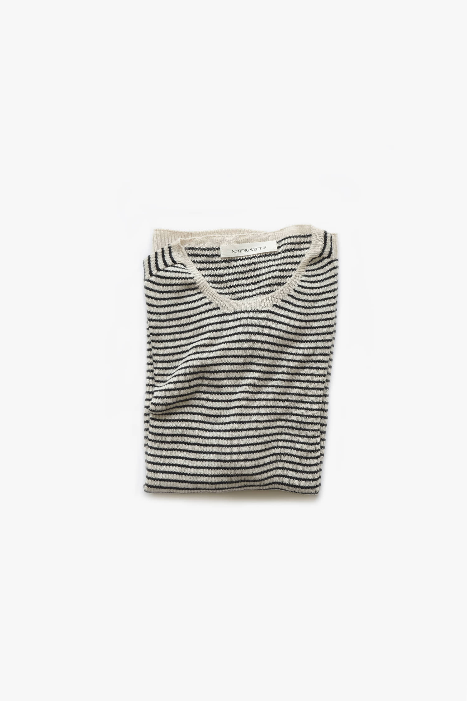 Cashmere wholegarment knit (ivory+black)