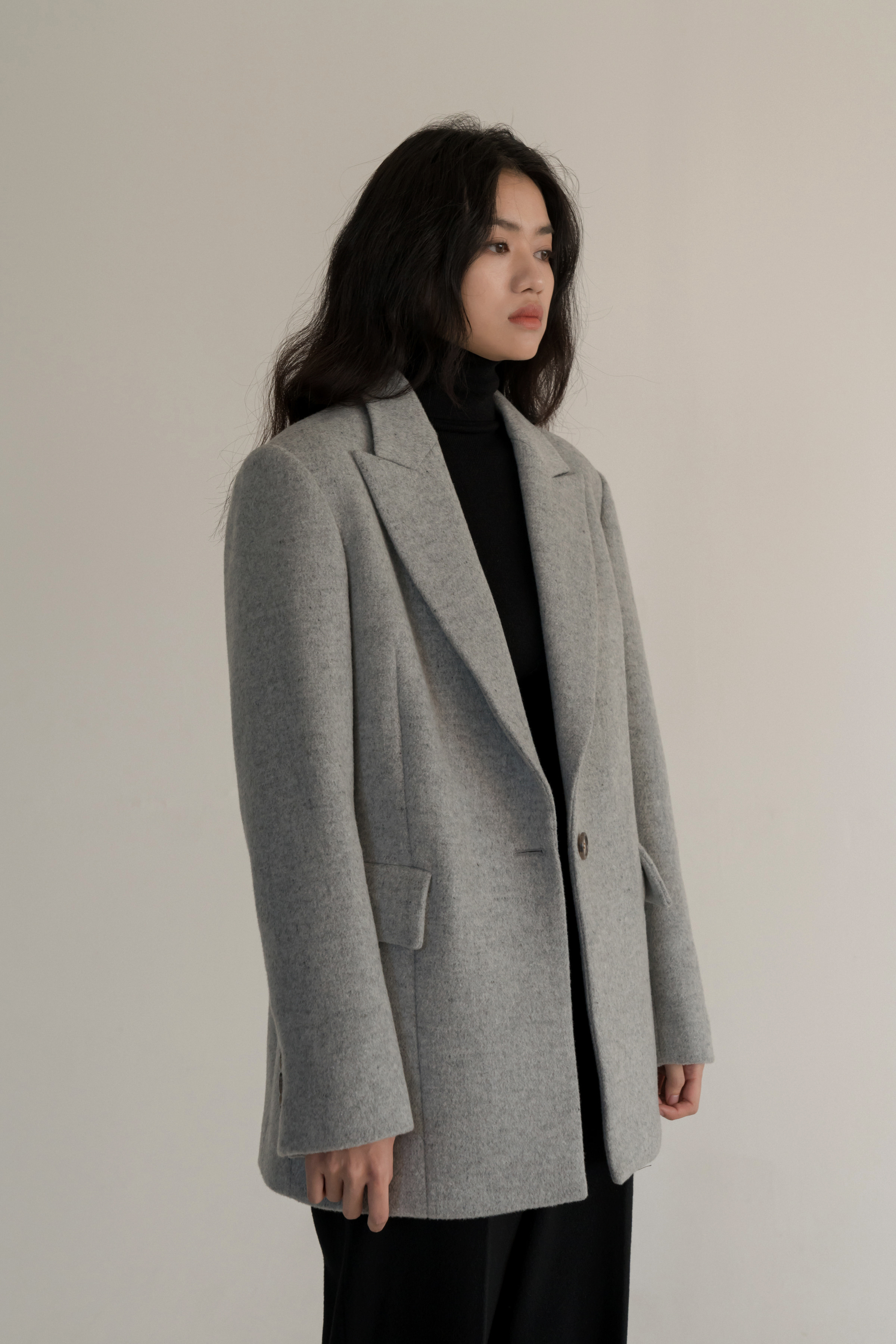 winter wool blazer (grey)