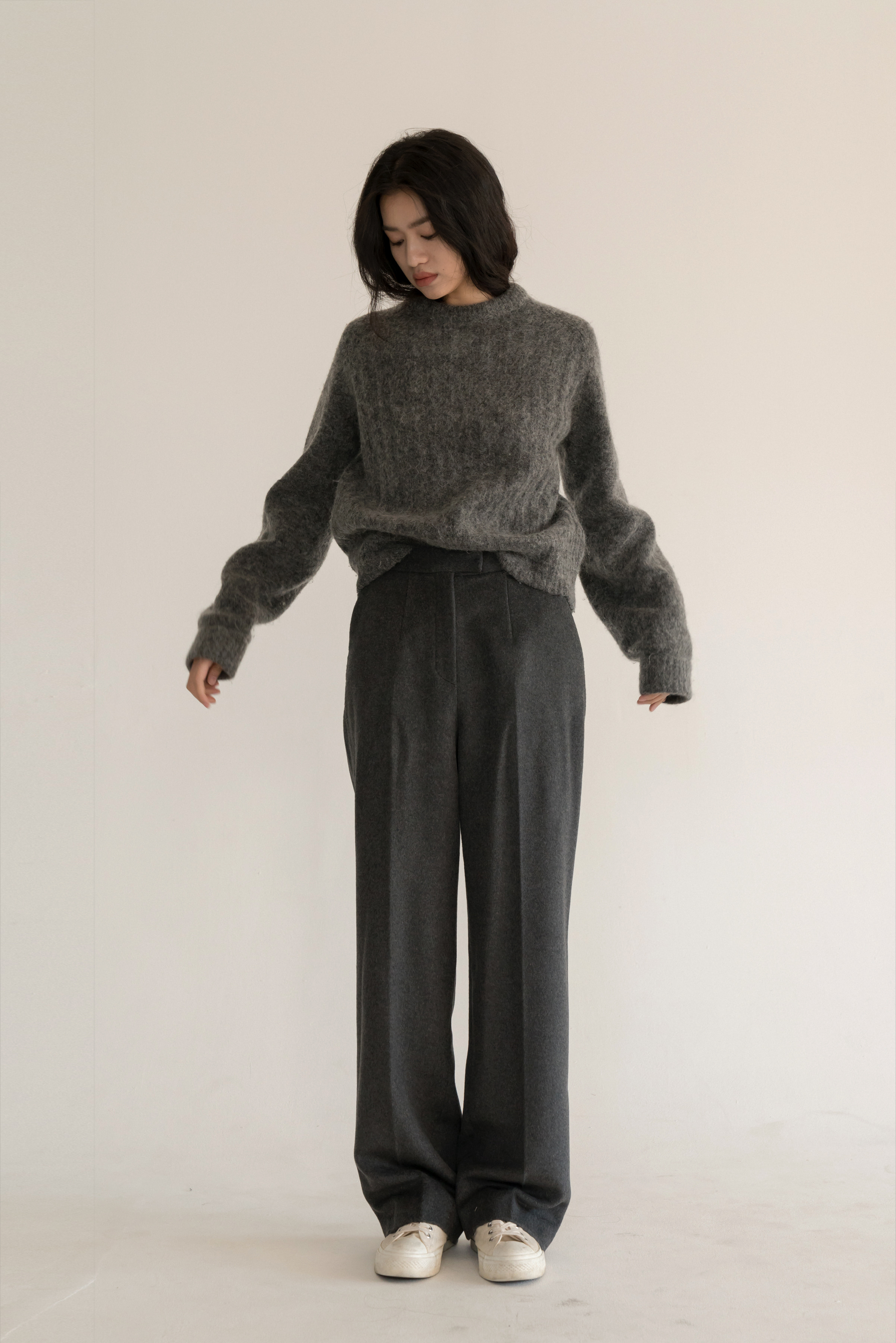 cashmere slacks (grey)