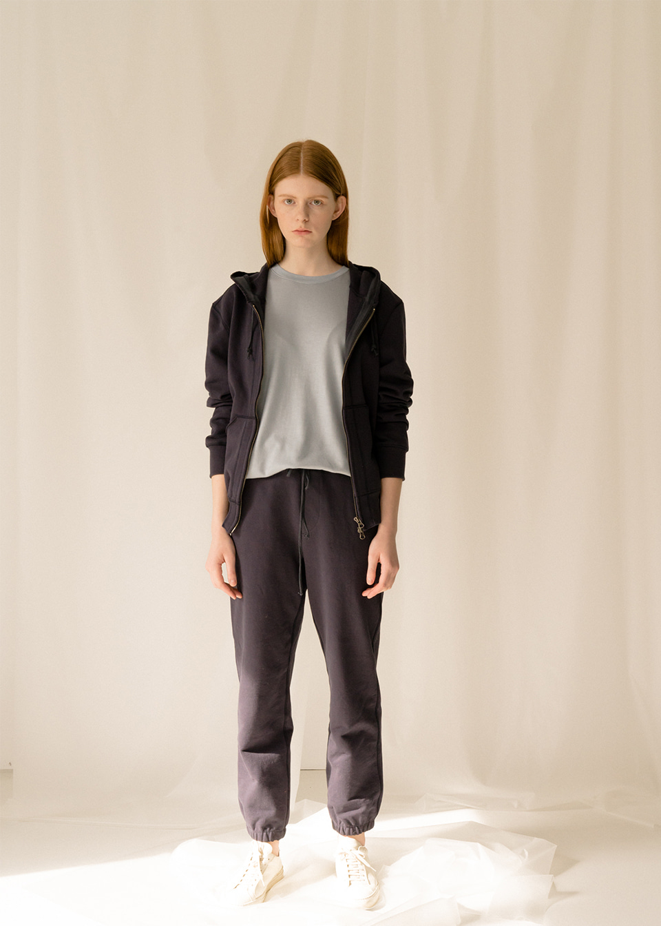 TWO WAY ZIP HOODY PANTS NV