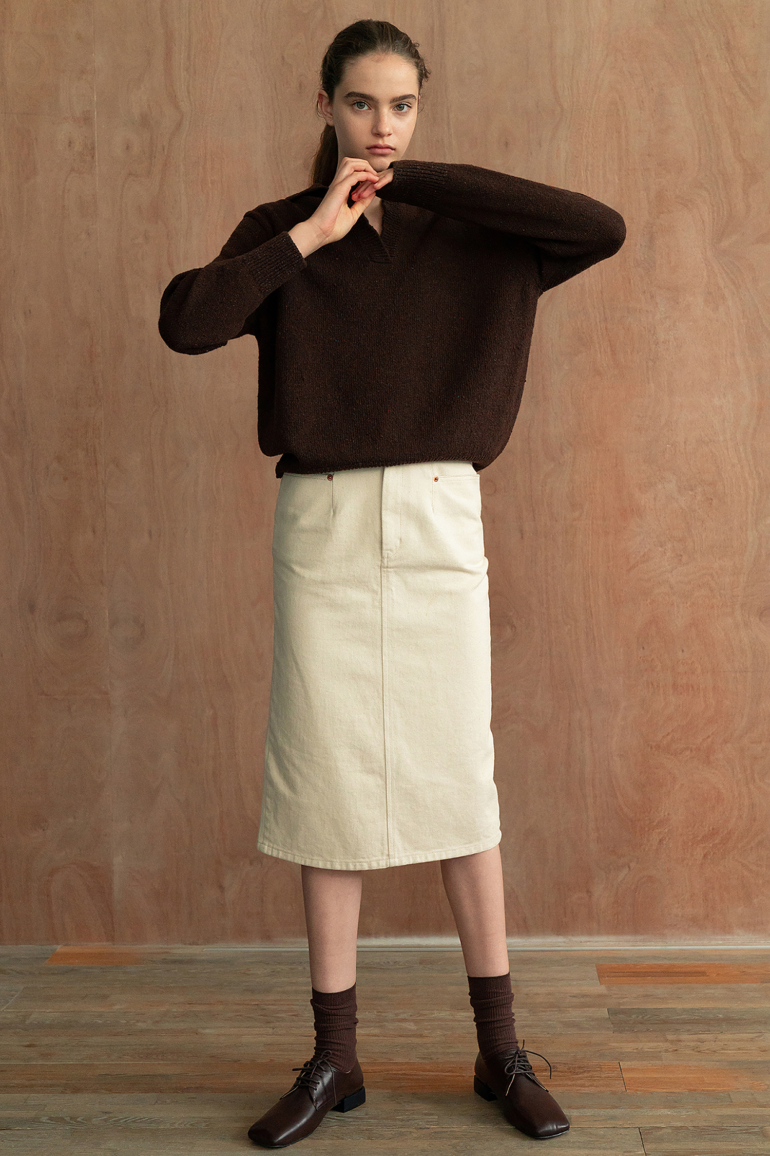 Bella knit (Brown)