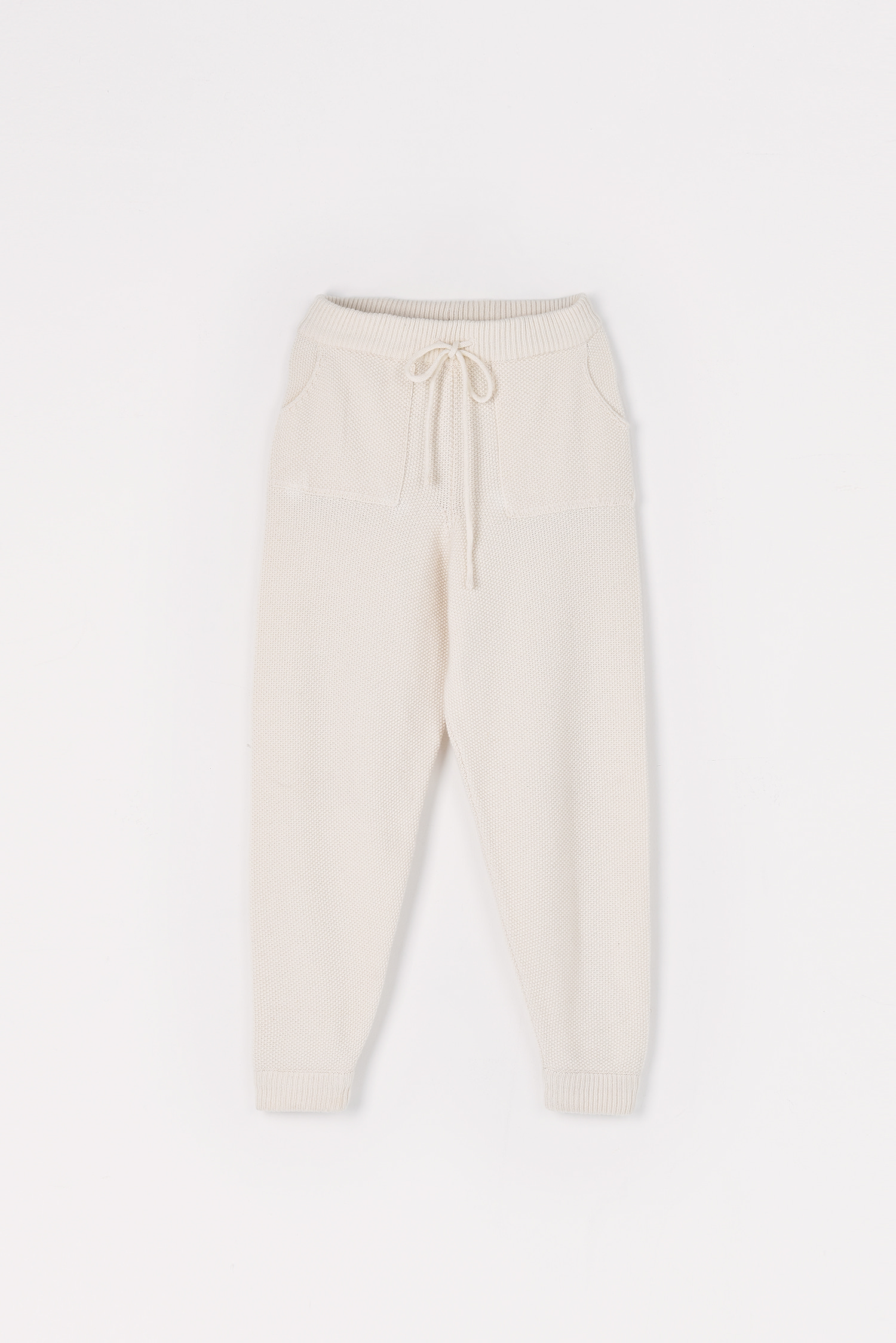 Cashmere knitting pants (Ivory)