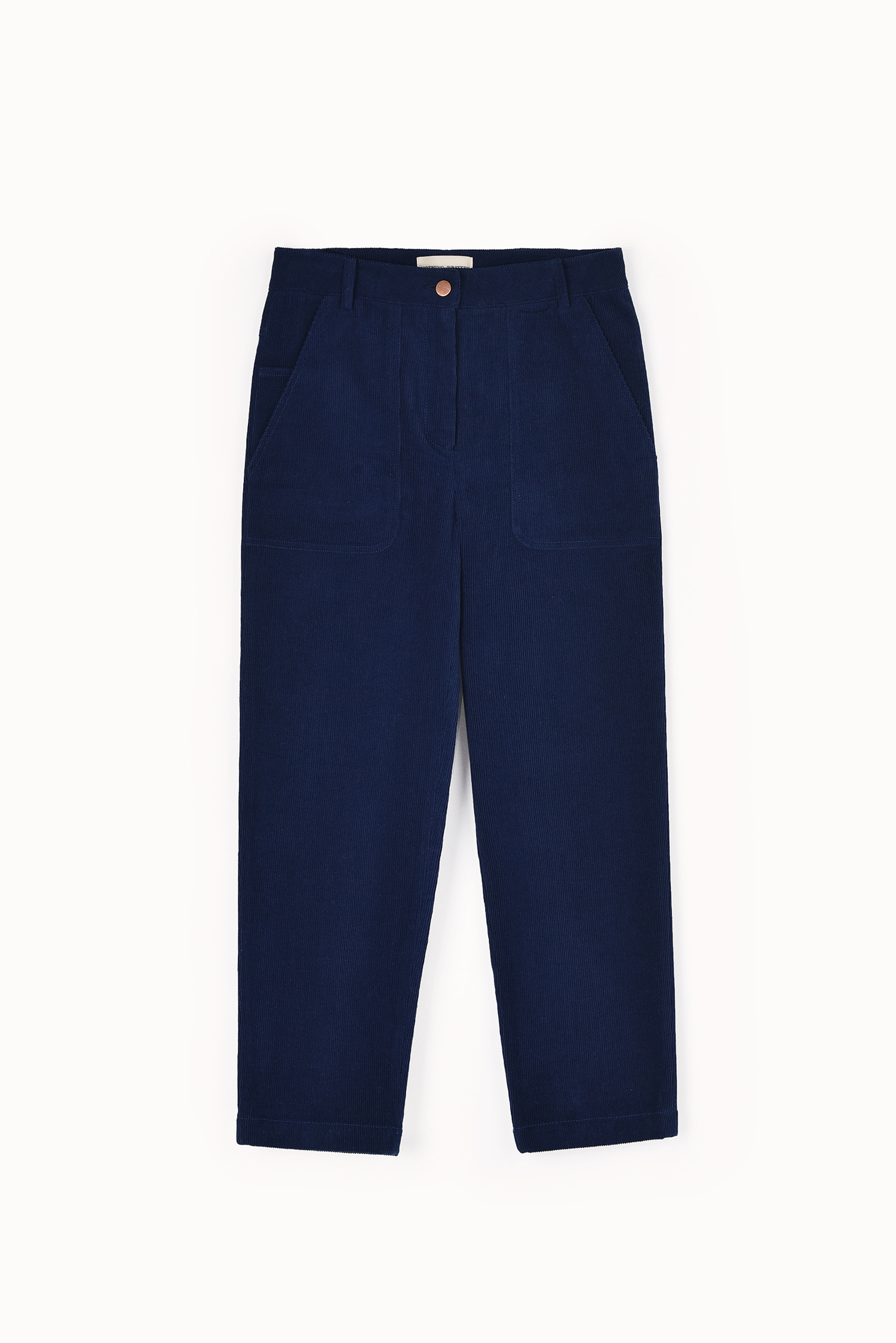 Straight fit corduroy jeans (Dark blue)