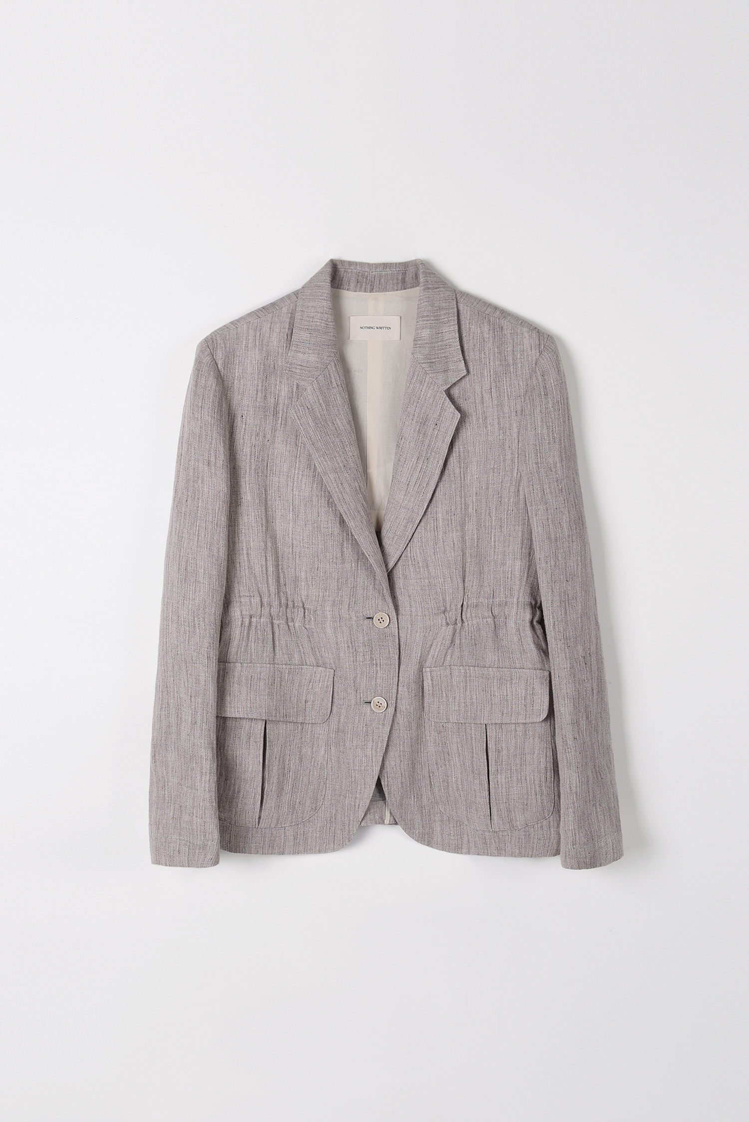 Safari linen jacket (toast)