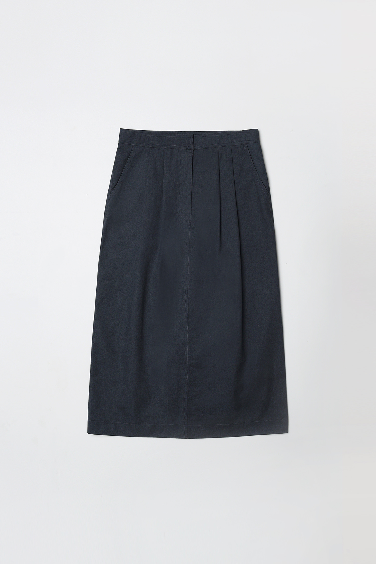 Tuck skirt (dark navy)