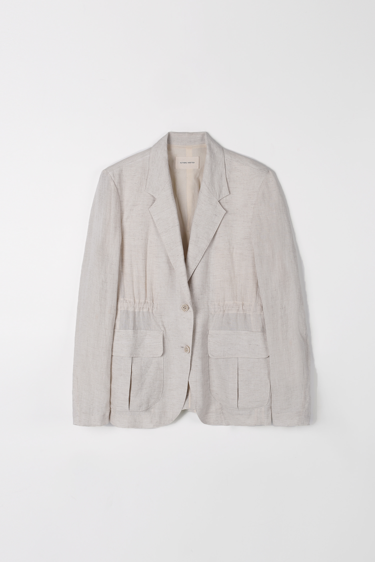 Safari linen jacket (ivory)