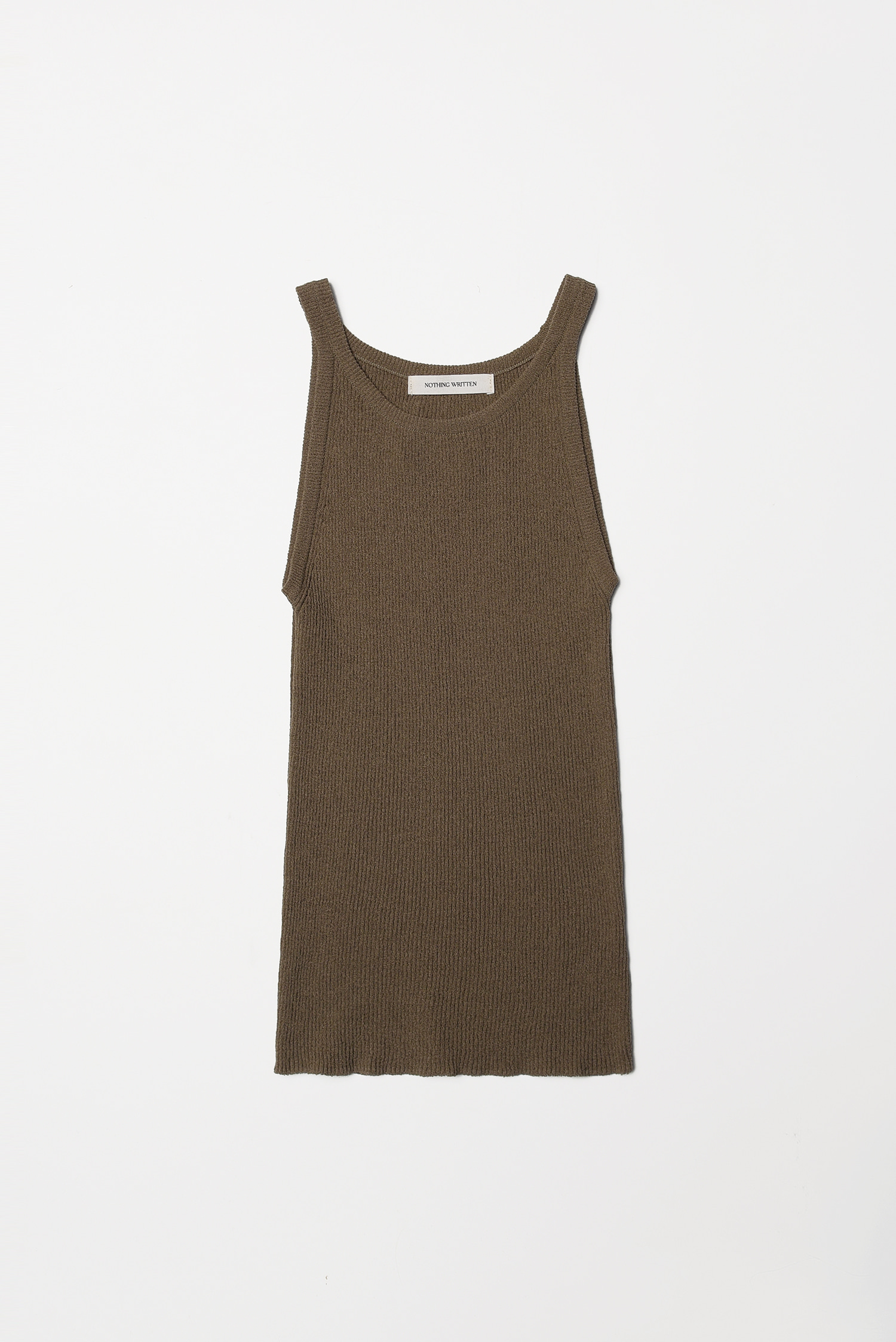 2RE-ORDER / Knit sleeveless (khaki)