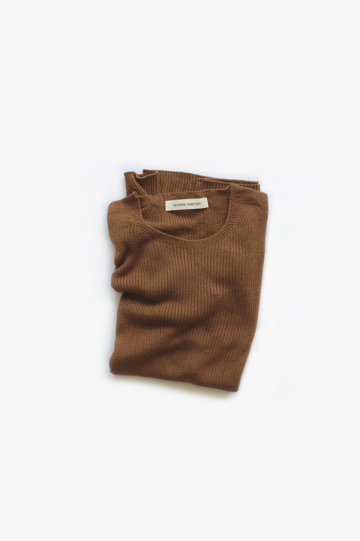 Cashmere wholegarment knit (camel brown)