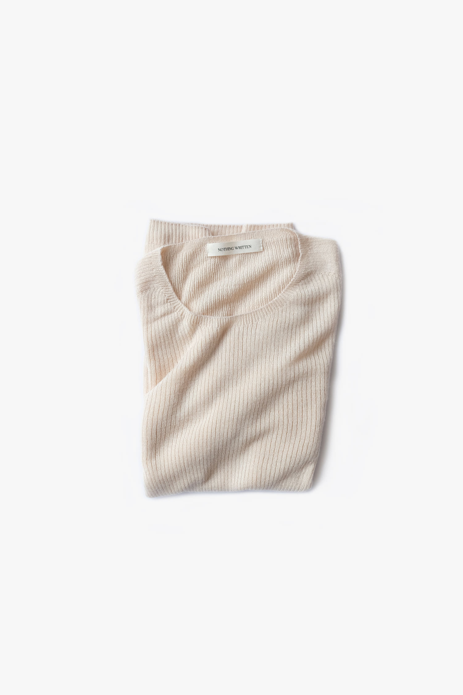 Cashmere wholegarment knit (ivory)